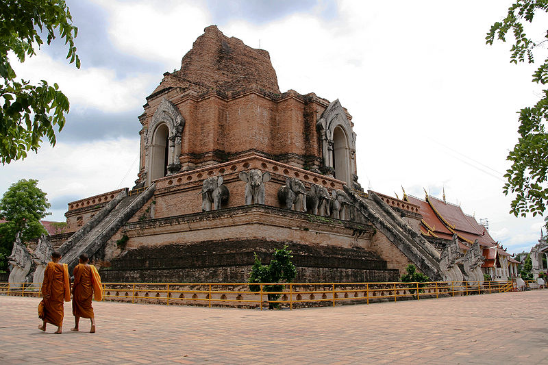 Wat Chedi Luang, a temple in the center of Chiang Mai