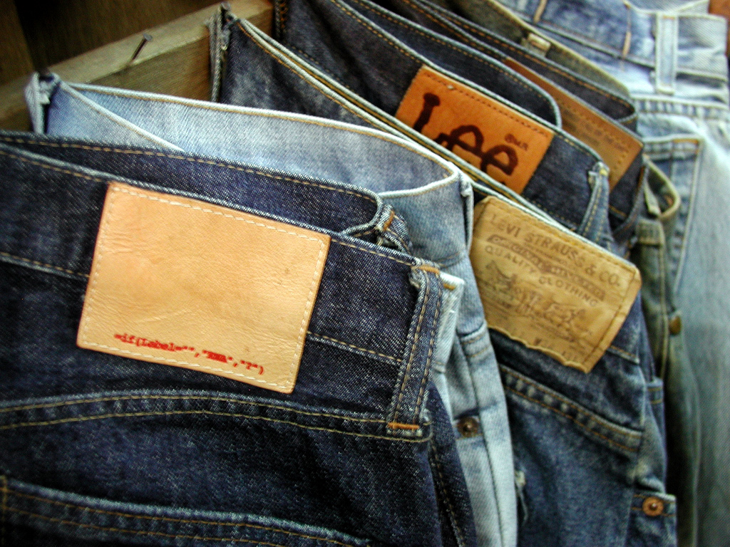 Counterfeit jeans at Chatuchak market, Bangkok