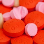 Red and pink tablets