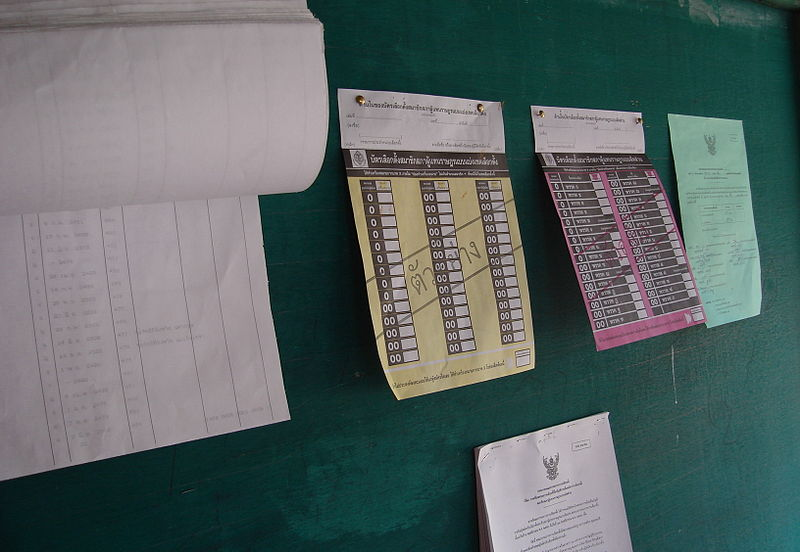 Thai election in Ban Khung Taphao