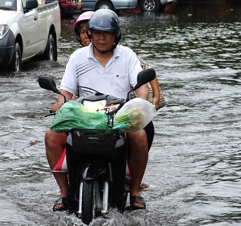 Flooded street in Downtown Chiang Mai