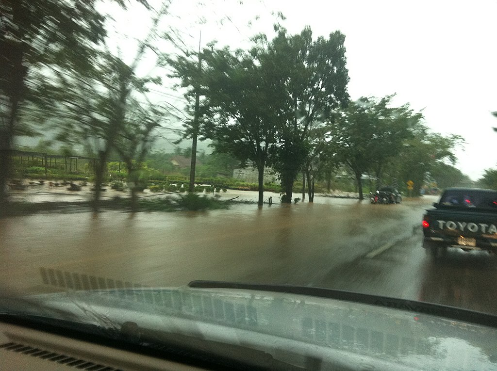 Flooded road in Chumphon
