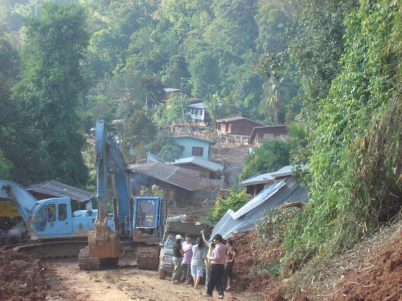 Landslide on a village located in Uttaradit District