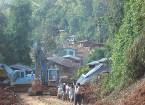 Landslide on a village located in Uttaradit District