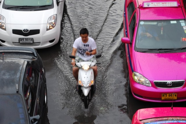 Bangkok hit by freak rains