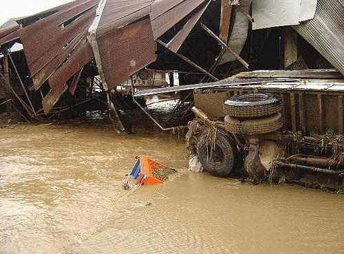 Pai market floods