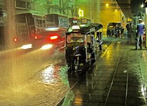 Floods in inner Bangkok