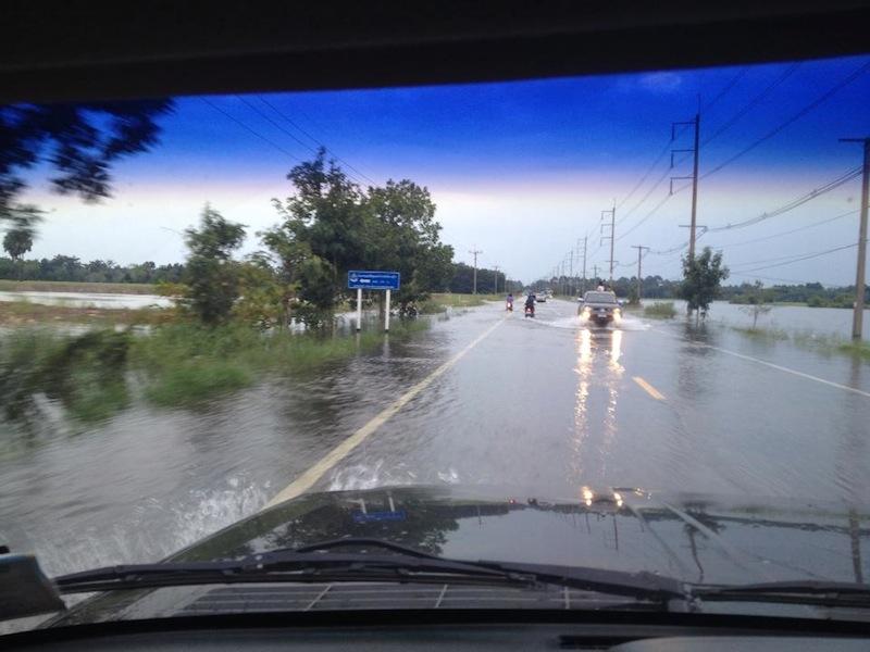 Heavy rain in Thailand