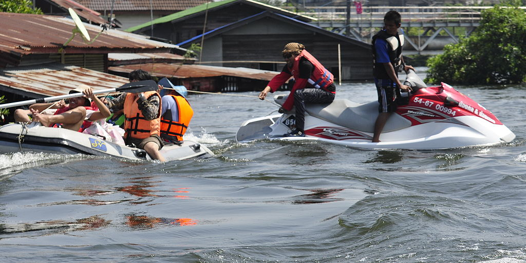 Flood rescue operation