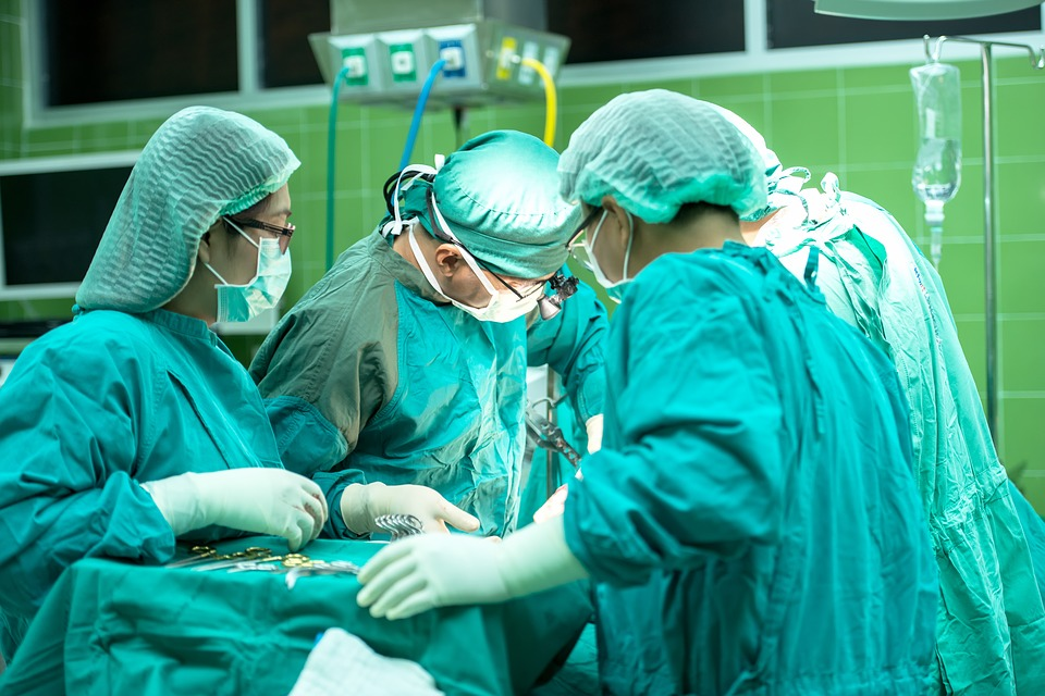 Surgery in the hospital