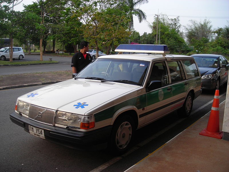 Volvo 940 ambulance car in Thailand
