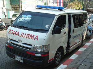 Toyota Hiace ambulance in Chiang Mai, Northern Thailand