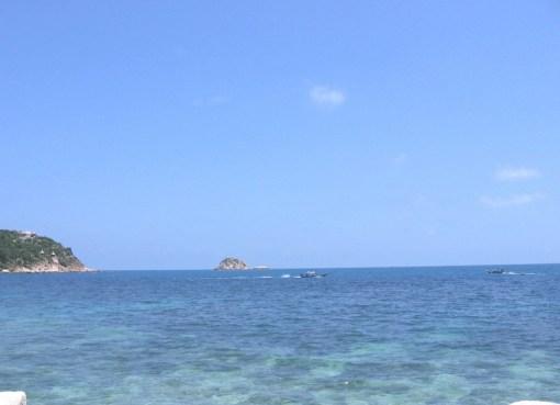 Boats on the coast off Koh Tao