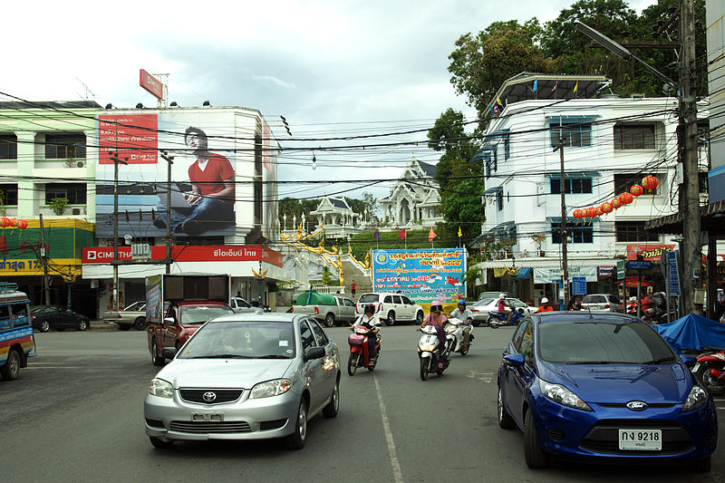 Road in Krabi town