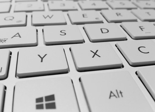 Windows laptop keyboard