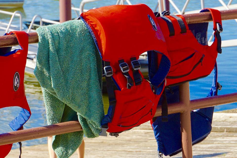Red life vest