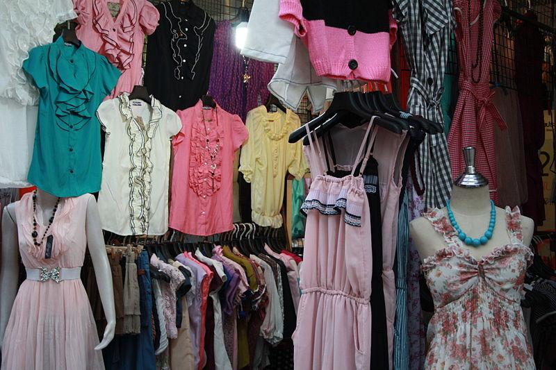 Clothes stalls in Bangkok