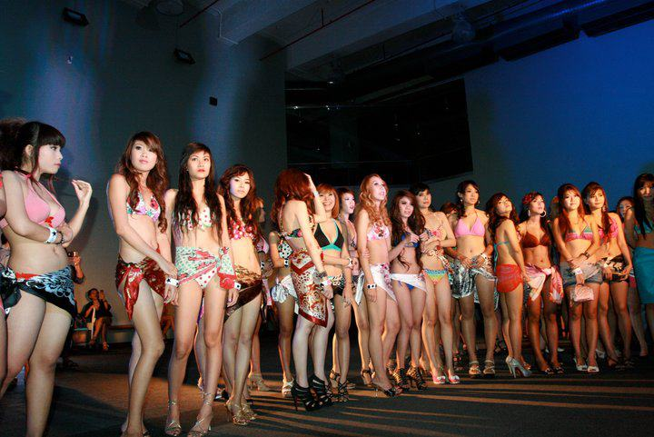 A beauty pageant contest