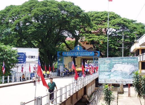 Myanmar-Thailand bridge in Mae Sai