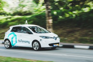 Self-driving car by nuTonomy on the road. Image: nuTonomy.