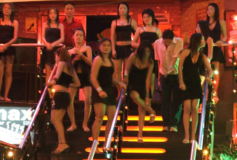 Girls at a nightclub in Thailand