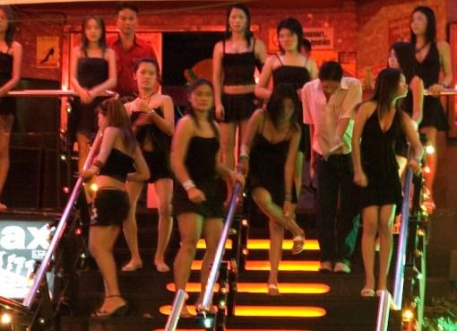 Girls at a nightclub in Thailand