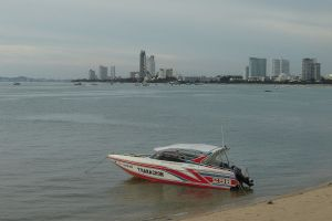 Pattaya City beach sand-fill project hit hard by flooding
