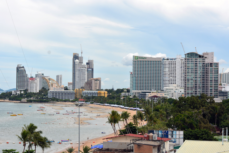 Pattaya skyline and beach