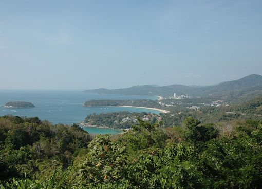View of Phuket from a hill