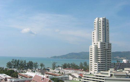 Buildings in Patong Beach, Phuket, Thailand.