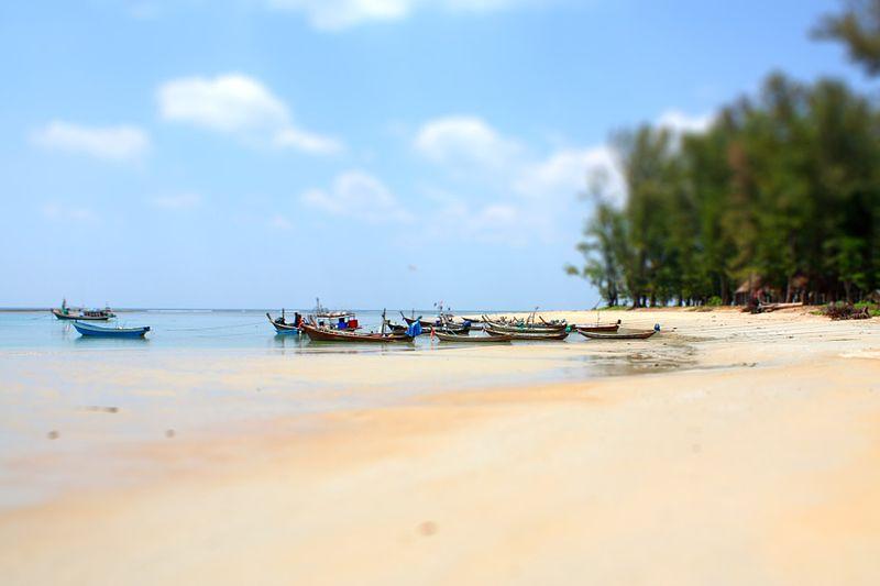 Longtail boats on Nai Yang Beach, Phuket