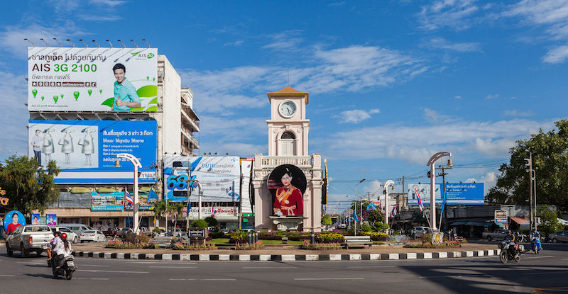 Surin roundabout in Phuket
