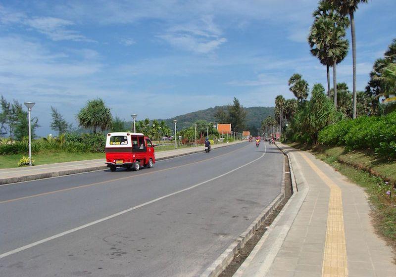 Road in Phuket Island, Thailand.