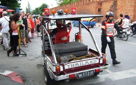 Chiang Mai police tuk tuk