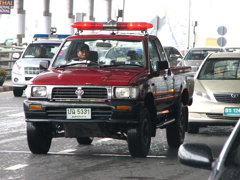 Toyota Hilux Thai Police at Suvarnabhumi Airport in Bangkok