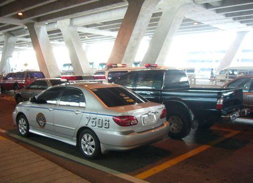 Royal Thai Police Toyota Corolla Altis at Suvarnabhumi International Airport