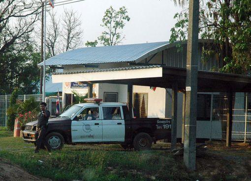 Police pickup truck in Kalasin, Thailand