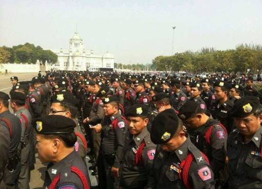 Royal Thai Police parade