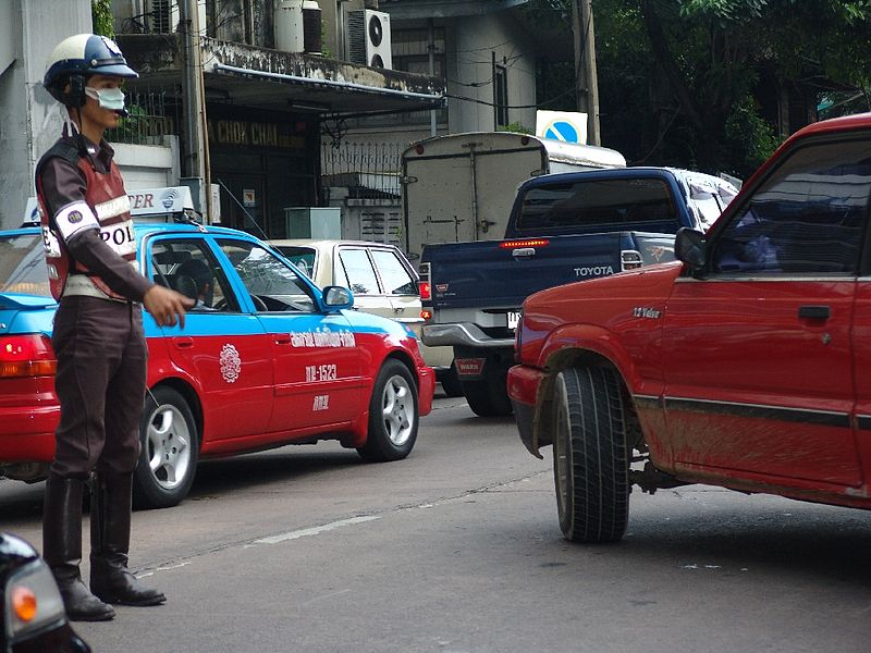 Thai traffic officer in Chinatown