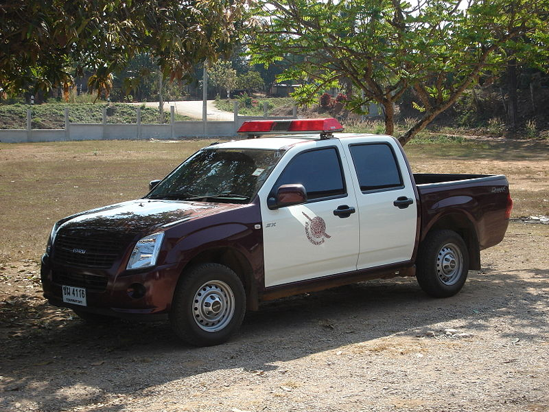 Thai police car in Phitsanulok