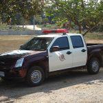 Thai police car in Phitsanulok