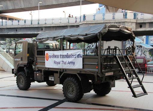 Royal Thai Army vehicle in Bangkok