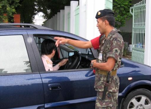 Thai military checkpoint