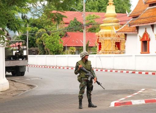 Thai military in Chiang Mai