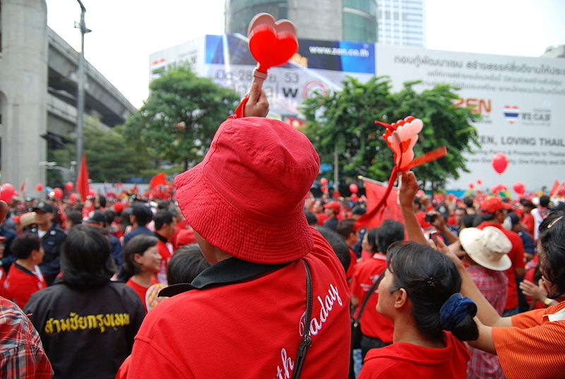 Red-shirt demonstration in Thailand