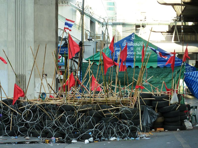 Red Shirt barricade at Rajprasong, Bangkok