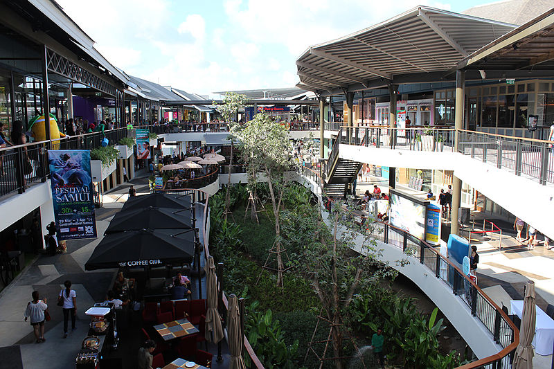 Central Festival mall in Koh Samui