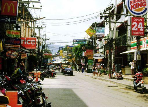 Chaweng in Koh Samui island