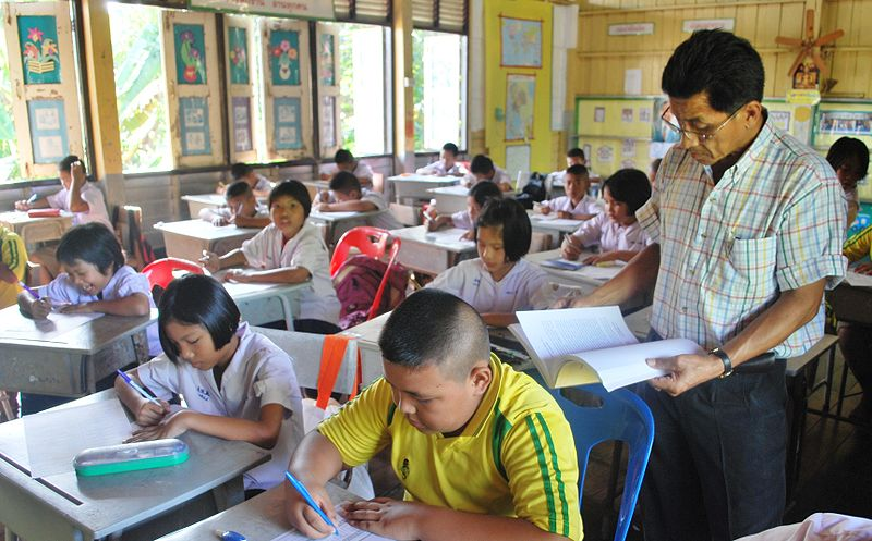 Students at Pa Khanun Charoen Witthaya School