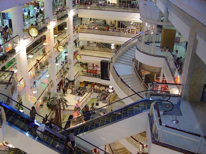 Top view of CentralPlaza Bangna, also known as Central City Bangna shopping centre